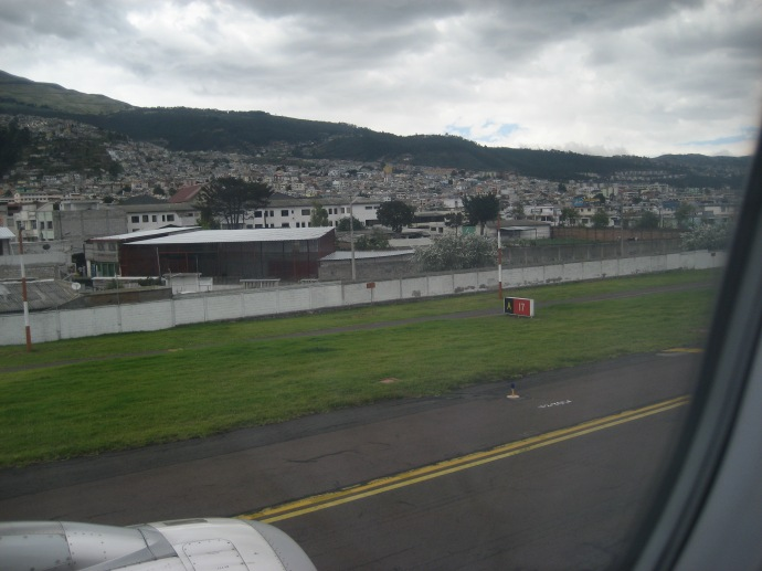 Showing just how close the buildings are to the runway.