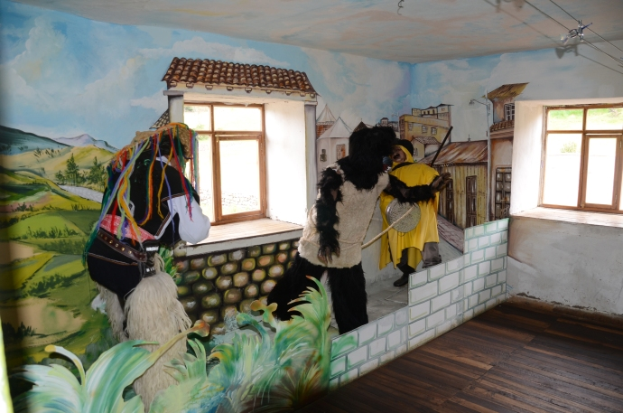 Another house has dioramas depicting cultural events.  This display is about three festivals.