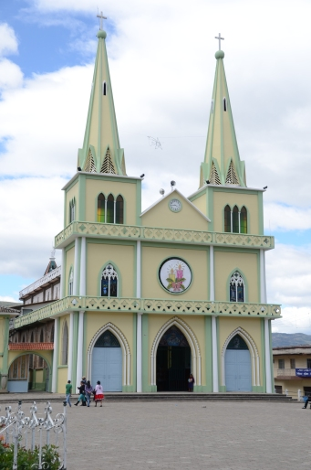 Chordeleg cathedral, on edge of plaza