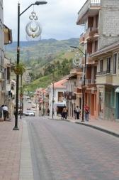 Street scene, showing Chordeleg symbol hanging from every street light