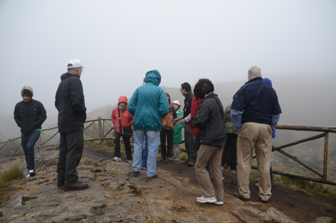 Cold and damp fellow travelers at Tres Cruces.