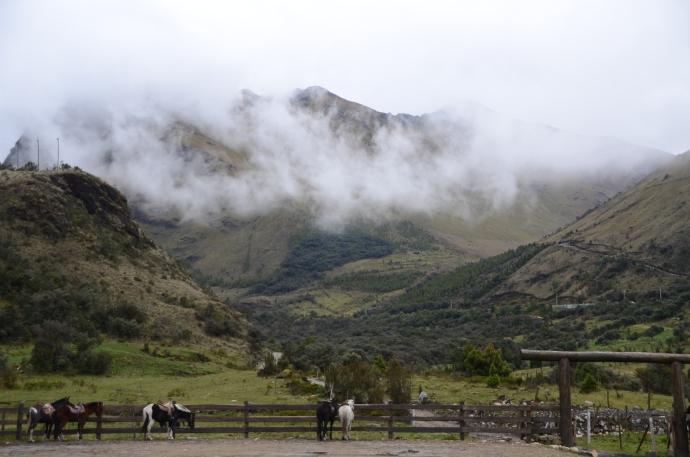 Cajas National Park, as seen from Dos Chorreras Restaurant.