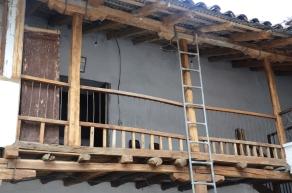 The second floor, overlooking the courtyard