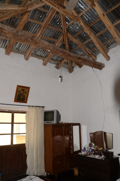 The bedroom ceiling