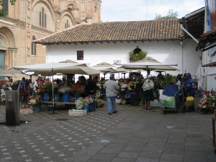 Part of the Flower Market, next to the New Cathedral.