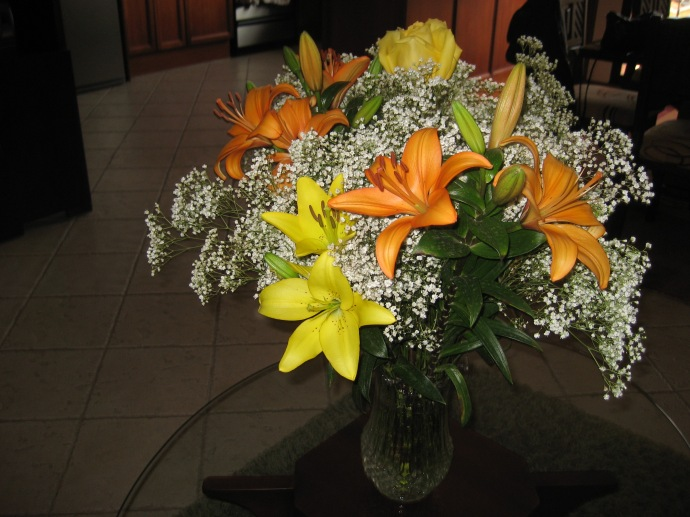 A Flower Arrangement in our Apartment