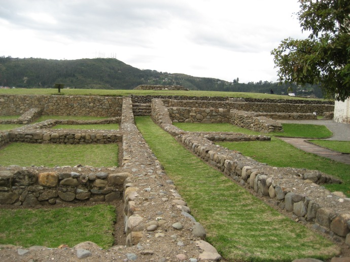 Inca foundations on the upper level of Museo Pumapungo in the heart of Cuenca
