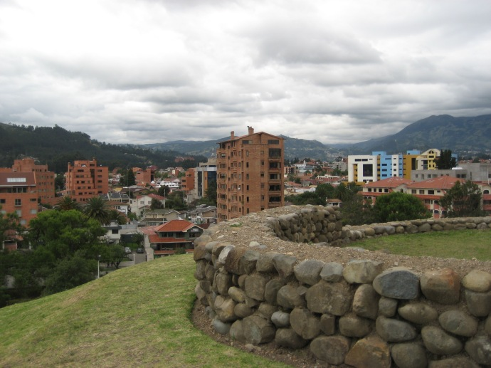 The newer portion of Cuenca, as seen from the old ruins