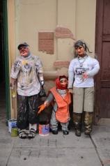 Stores often put monigotes outside thier businesses