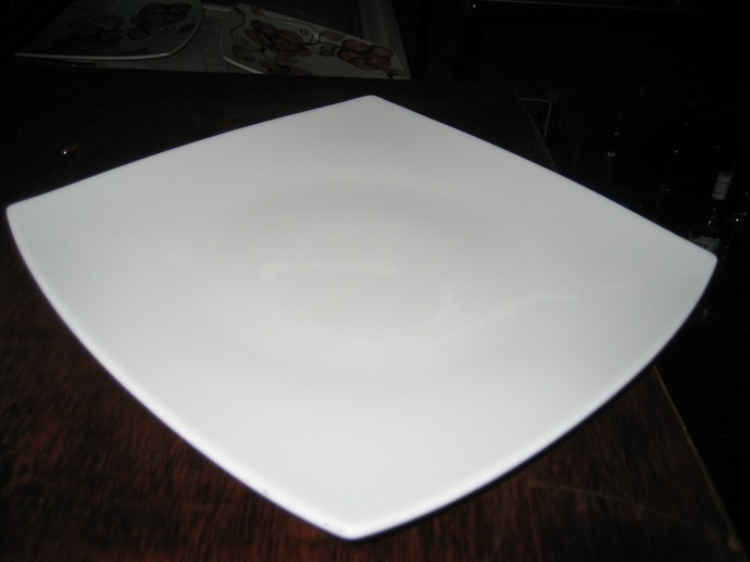 Step 1 -- Start with a blank plate.
