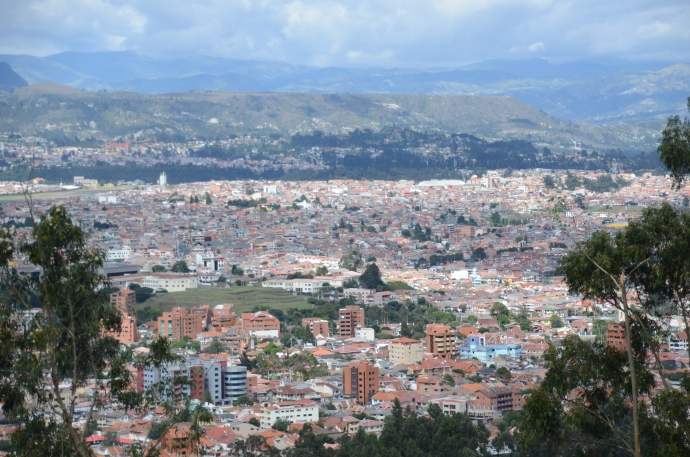 A view of Cuenca from Turi, looking northeast