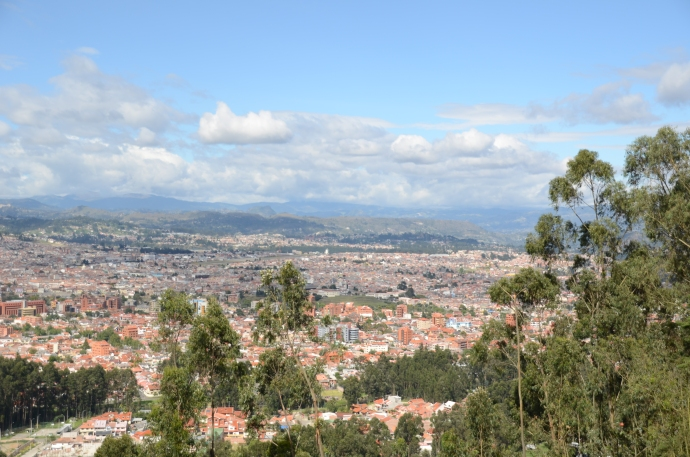 A view of Cuenca, looking toward the northeast, from Turi