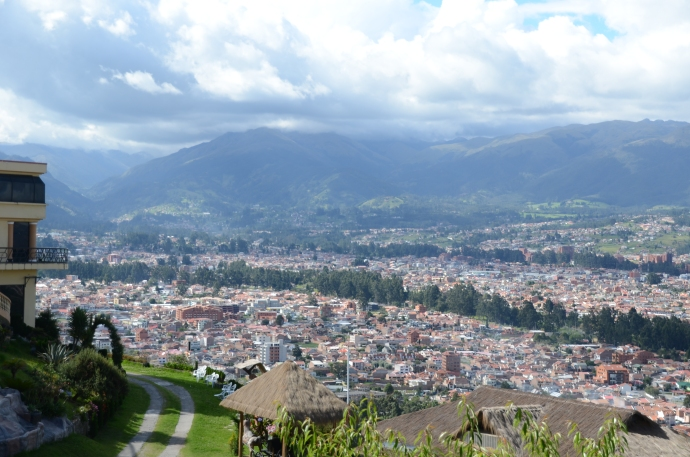 A view of Cuenca from Turi, looking at the mountains to the northwest