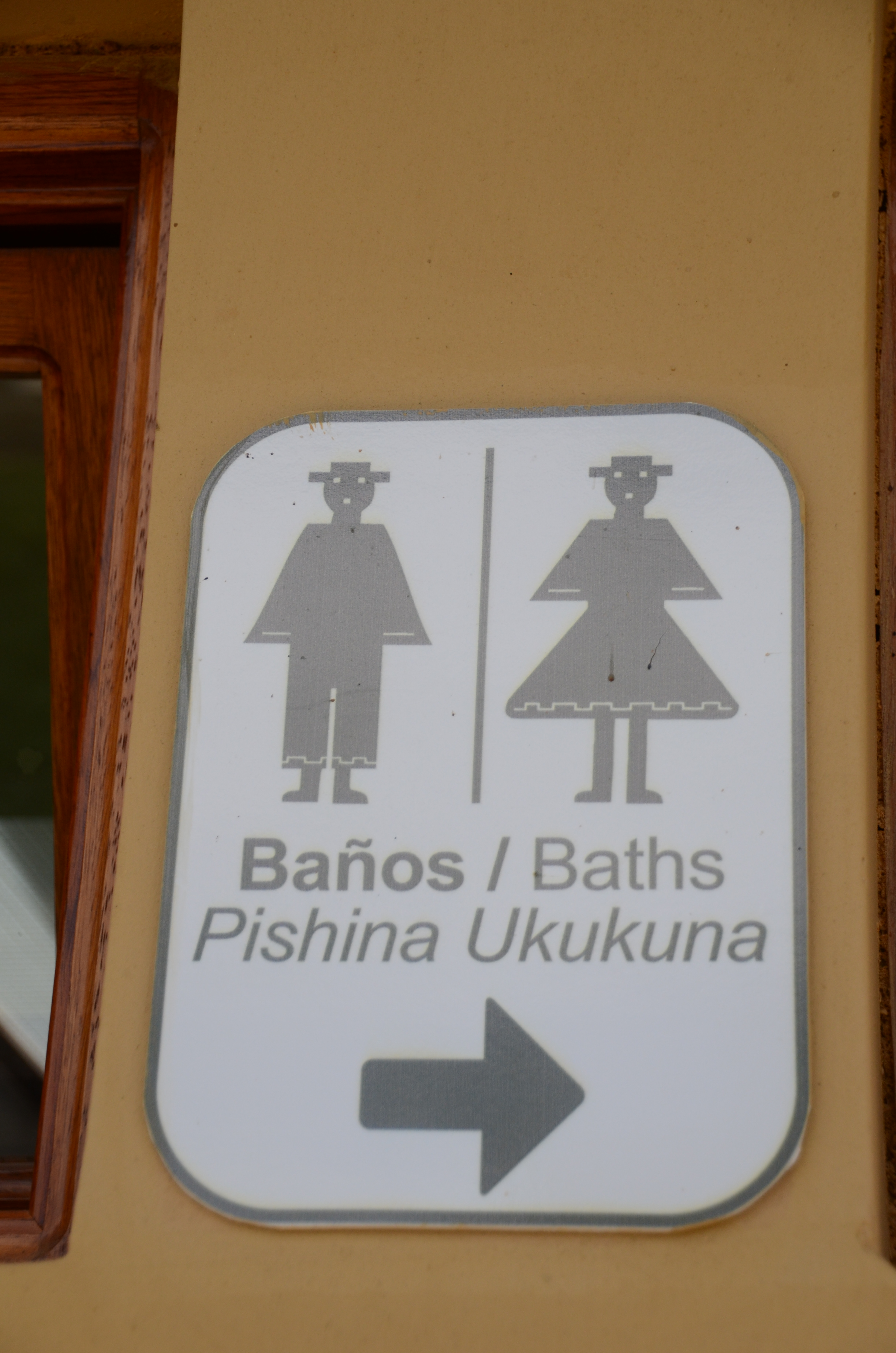 Dirty bathroom signs - Bathroom Sign In Spanish Ingapirca Living With The Past Two Who Trek