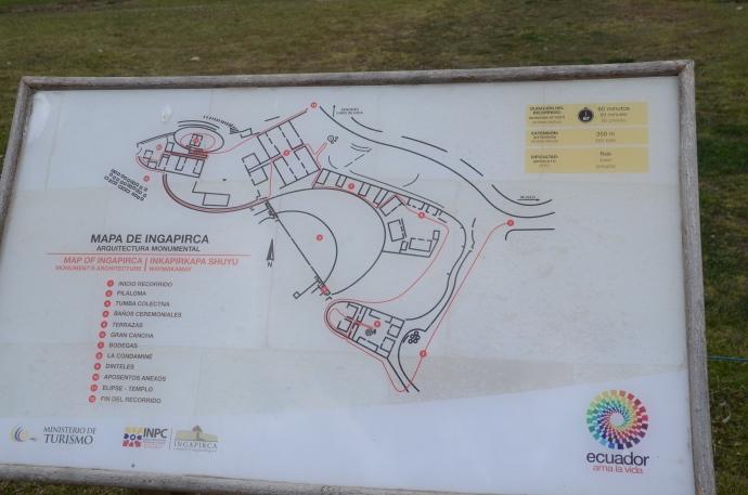 Map of Ingapirca