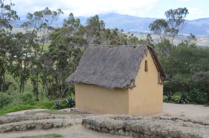 Reconstructed house, probably used for military purposes