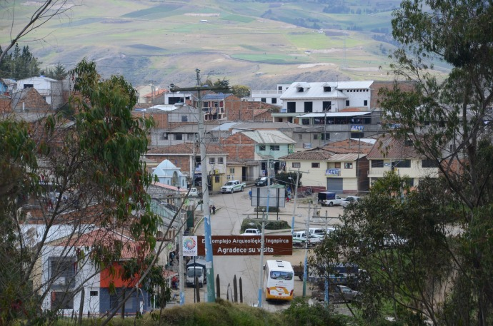 The town 200 meters outside the Ingapirca archeological site