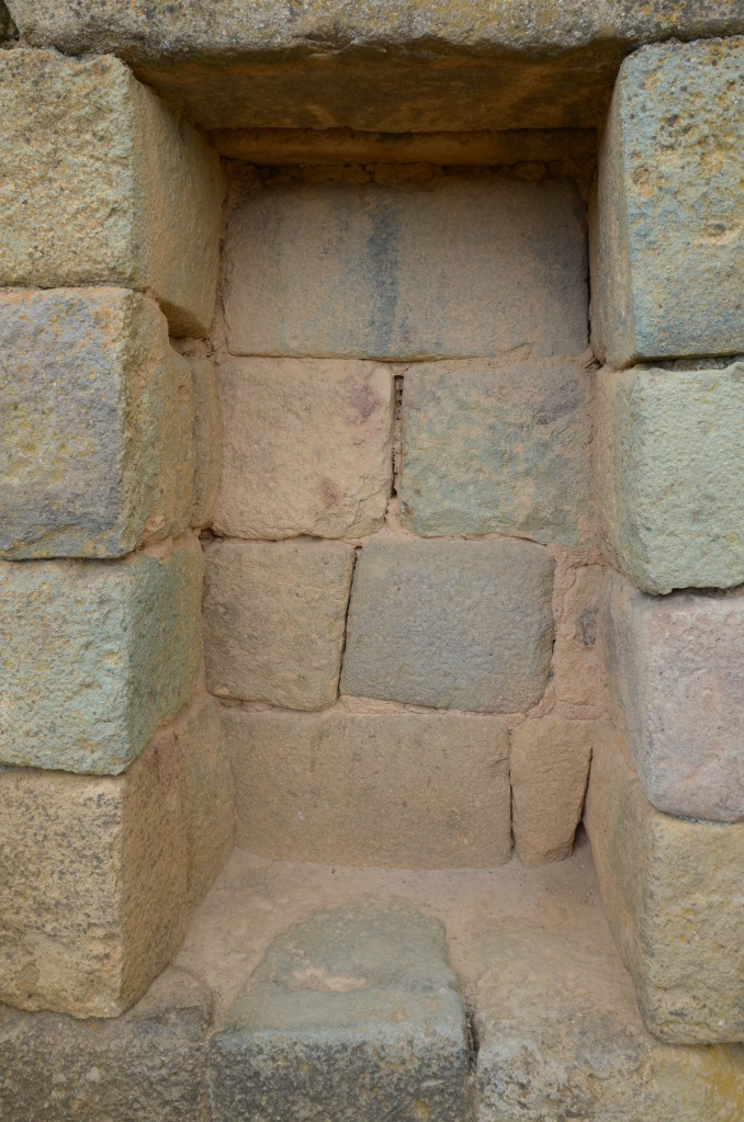 Recessed notch in the Temple of the Sun, Ingapirca