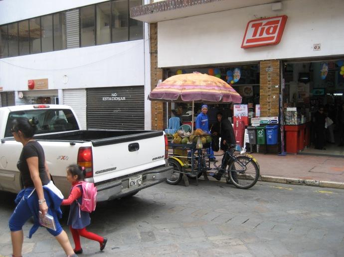 Push cart vendor