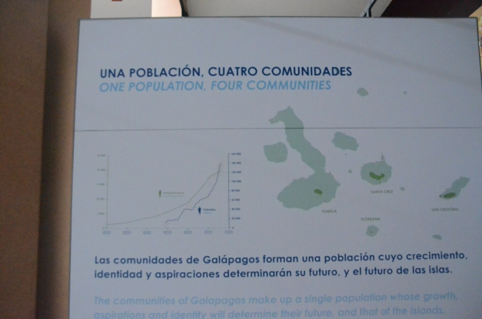 A chart showing how the population of the Galapagos Islands is rapidly increasing.