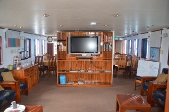 Even at sea, there's a TV